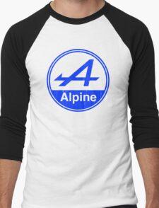 Alpine Blue Vintage Graphic Men's Baseball ¾ T-Shirt