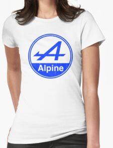 Alpine Blue Vintage Graphic Womens Fitted T-Shirt
