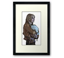 Emma Holding Baby Neal Color (Once Upon A Time) Framed Print