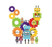 Robots and Gears Photographic Print