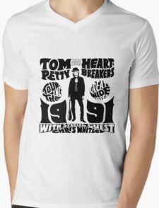TOM PETTY & HEARTBREAKERS 1991 WHITE Mens V-Neck T-Shirt