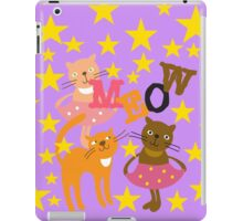 Meow Dancing Cats and Stars iPad Case/Skin