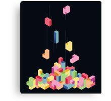 Tetrisometric Canvas Print