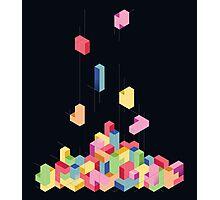 Tetrisometric Photographic Print