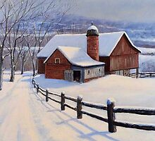 Winter On The Farm by William H. RaVell III