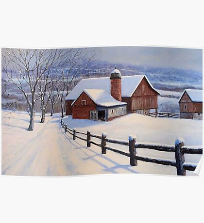 Winter On The Farm Poster
