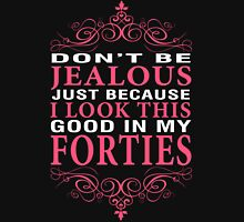 Dont' Be Jealous - 40s Women's Fitted V-Neck T-Shirt