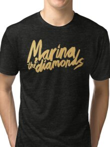 M Logo Gold Tri-blend T-Shirt