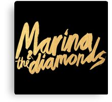 M Logo Gold Canvas Print