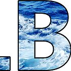Long Beach Island Wave Letters by SimplyStickers
