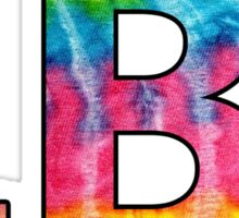 Long Beach Island Tie Dye Letters Sticker
