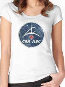 Vintage Emblem Canadian Space Agency Women's Fitted Scoop T-Shirt