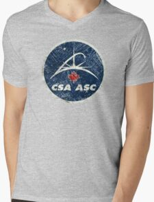 Vintage Emblem Canadian Space Agency Mens V-Neck T-Shirt