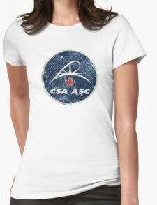 Vintage Emblem Canadian Space Agency Womens Fitted T-Shirt