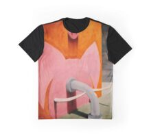 SURREALISM - Pinky Pig Elephant Graphic T-Shirt