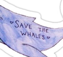 Save the Whales Water Color Sticker