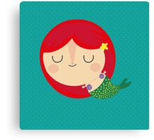 A is for ariel Canvas Print