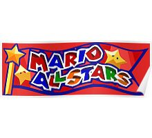 The Mario All Stars Poster
