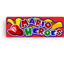 The Mario Heroes Canvas Print