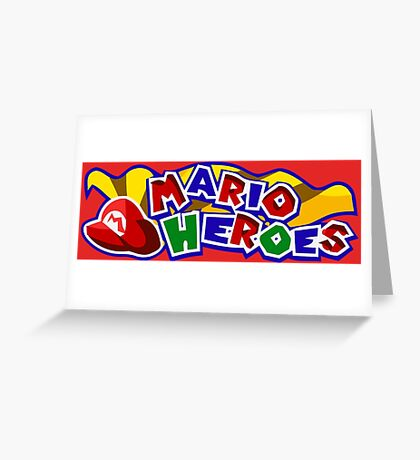 The Mario Heroes Greeting Card