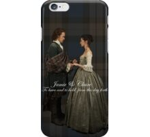 Jamie & Claire/Wedding vow iPhone Case/Skin