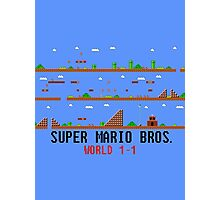 Super Mario Bros. World 1-1 Photographic Print