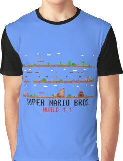 Super Mario Bros. World 1-1 Graphic T-Shirt