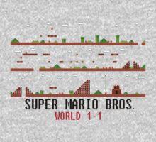 Super Mario Bros. World 1-1 One Piece - Long Sleeve