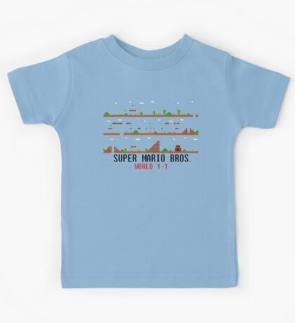Super Mario Bros. World 1-1 Kids Tee