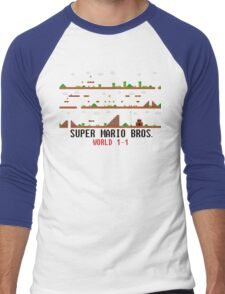 Super Mario Bros. World 1-1 Men's Baseball ¾ T-Shirt