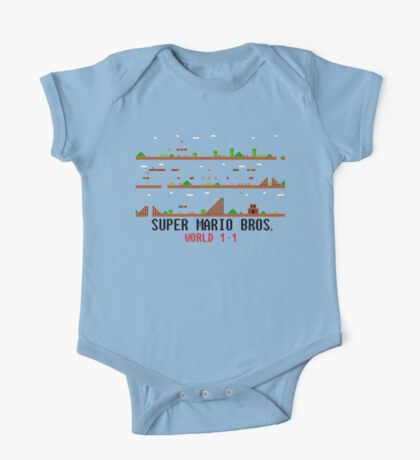 Super Mario Bros. World 1-1 One Piece - Short Sleeve