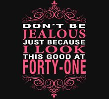 Dont' Be Jealous - 41 Women's Fitted V-Neck T-Shirt