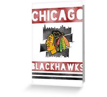 Chicago Blackhawks Stripes Greeting Card