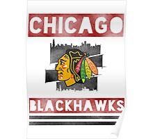 Chicago Blackhawks Stripes Poster