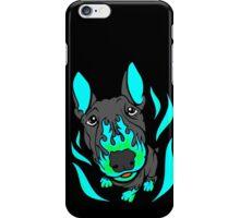 Custom Hot Rod Bull Terrier Turquoise  iPhone Case/Skin