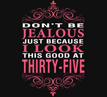 Dont' Be Jealous - 35 Women's Fitted V-Neck T-Shirt
