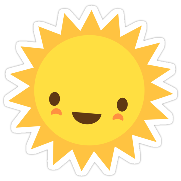 Quot Cute Kawaii Sun Cartoon Character Quot Stickers By Mhea
