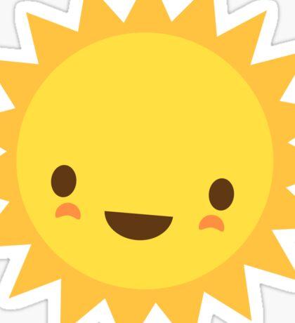 Cute kawaii sun cartoon character Sticker