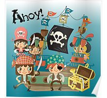 Little Pirates and Pirate Ship Poster