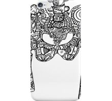 Dancing Tattooed Hip Bones from the Sugar Skull All Over Series iPhone Case/Skin