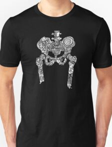 Dancing Tattooed Hip Bones from the Sugar Skull All Over Series T-Shirt