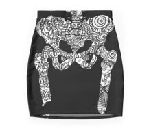 Dancing Tattooed Hip Bones from the Sugar Skull All Over Series Mini Skirt