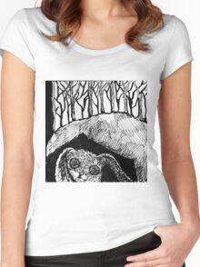 Psycho Rabbit  Women's Fitted Scoop T-Shirt