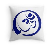 Om - Aum with Enso Zen circle Throw Pillow
