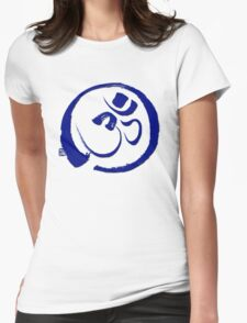 Om - Aum with Enso Zen circle Womens Fitted T-Shirt