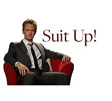 Barney Stinson- Suit Up Photographic Print
