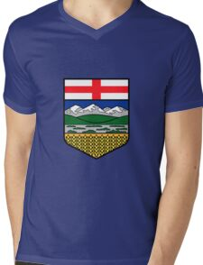 Flag of Alberta Mens V-Neck T-Shirt