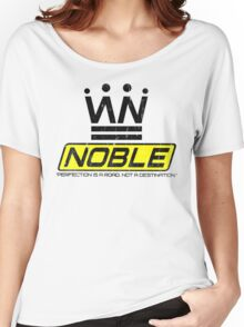 Noble Slogan Graphic Women's Relaxed Fit T-Shirt