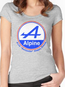 Alpine French Color Graphic Women's Fitted Scoop T-Shirt