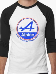 Alpine French Color Graphic Men's Baseball ¾ T-Shirt
